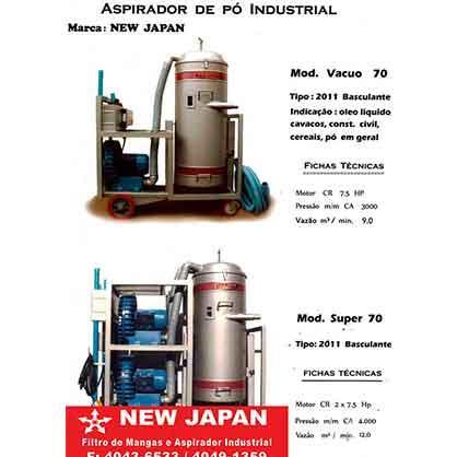 Locação de Aspirador Industrial New Japan